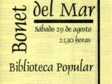 """Full de mà del concert """"El cor del temps"""" de Maria del Mar Bonet a Paraná, Argentina, el dia 29 d'agost del 1998"""