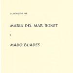 """Programa de mà del concert de Maria del Mar Bonet i Madó Buades a Campos, per les 1eres Festes de les Lletres a Campos"""", el 20 d'octubre del 1971"""