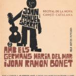 Cartell de la gira de Maria del Mar Bonet amb el seu germà, Joan Ramon Bonet i Joan Manuel Serrat per Mallorca els mesos de febrer i març del 1967