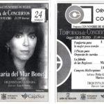 Anunci a la presa del concert de Maria del Mar bonet amb l'Orquestra de Córdova