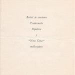 Programa de mà del concert de Maria del Mar Bonet a l'Auditorium de Palma on la sala Mozart es va omplir de gom a gom, el 19 de març del 1970 (revers).