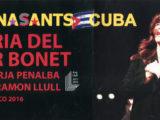 """Fulls de mà del concert de Maria del Mar Bonet a l'emblemàtic """"El Gato Tuerto"""" de l'Habana el mes de maig del 2016"""