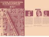 Programa de mà del V Festival Internacional de Música Popular de Zaragoza, de l'any 1984