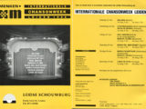 Programa de mà del Festival Internationale Chansonweek a Lieden on cantà Maria del Mar Bonet, l'any 1988
