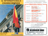 Programa de mà del Festival Internationale Chansonweek a Lieden on cantà Maria del Mar Bonet, l'any 1989