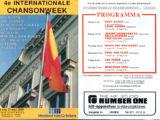Programa de mà del Festival Internationale Chansonweek a Lieden on cantà Maria del Mar Bonet, l'any 1989