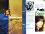 Programa de mà del Festival Celtic Connections de Glasglow, on cantà Maria del Mar Bonet, l'any 1998